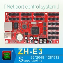 Zhonghang usb and ethernet port led display control board card for p10 led module