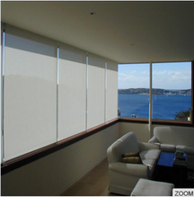Sunscreen fabric motorized roller blinds