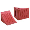 red wedge shaped portable polyurethane wheel chock for car and SUV GT-01U