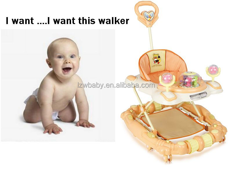 Lzw Inflatable Bouncer Walker A Wheel To Baby Model 137