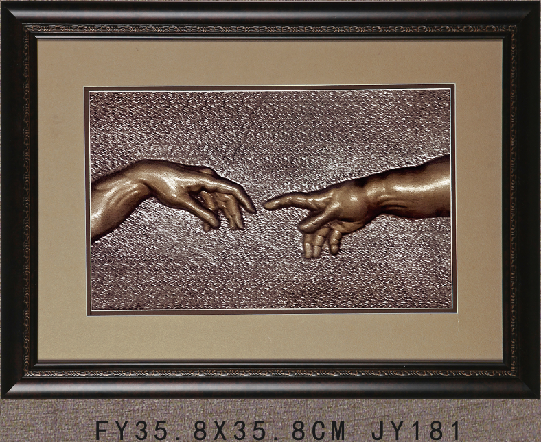 FY JY181best sell 3d two hand painting printed hand painting with frame