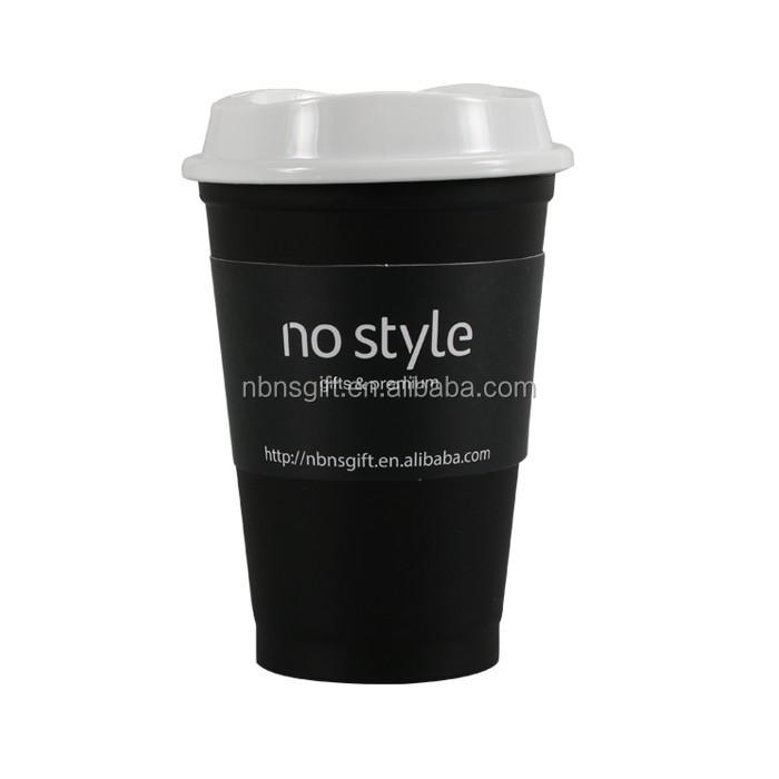 Coffee mug custom printing white lid handleless bulk plastic coffee mugs 350ml buy coffee mug - Handleless coffee mugs ...