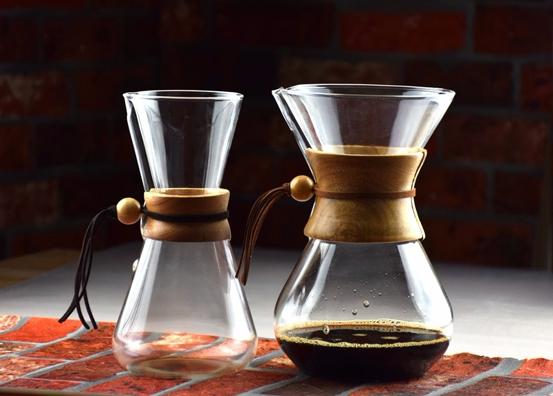 Coffee Brewer 1-6 Cups Counted Espresso Coffee Makers Coffee Machine Wooden Handle