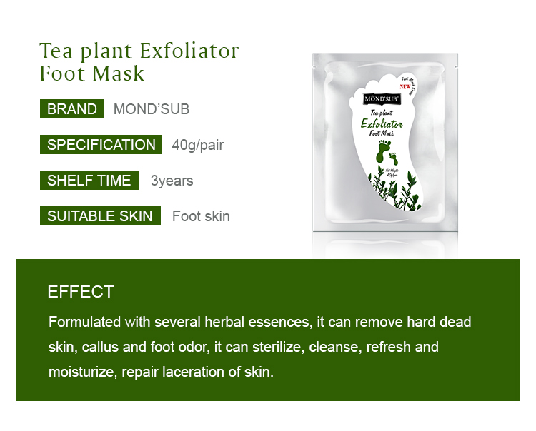 Mond'sub exfoliation natural socks exfoliating private label nourishing foot mask