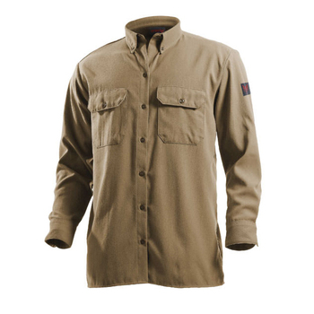 THPC finishing 8.5 cal/cm2 100% cotton cowboy style FR work shirt