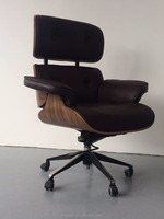 Italian design classic emes bentwood leather executive office chair
