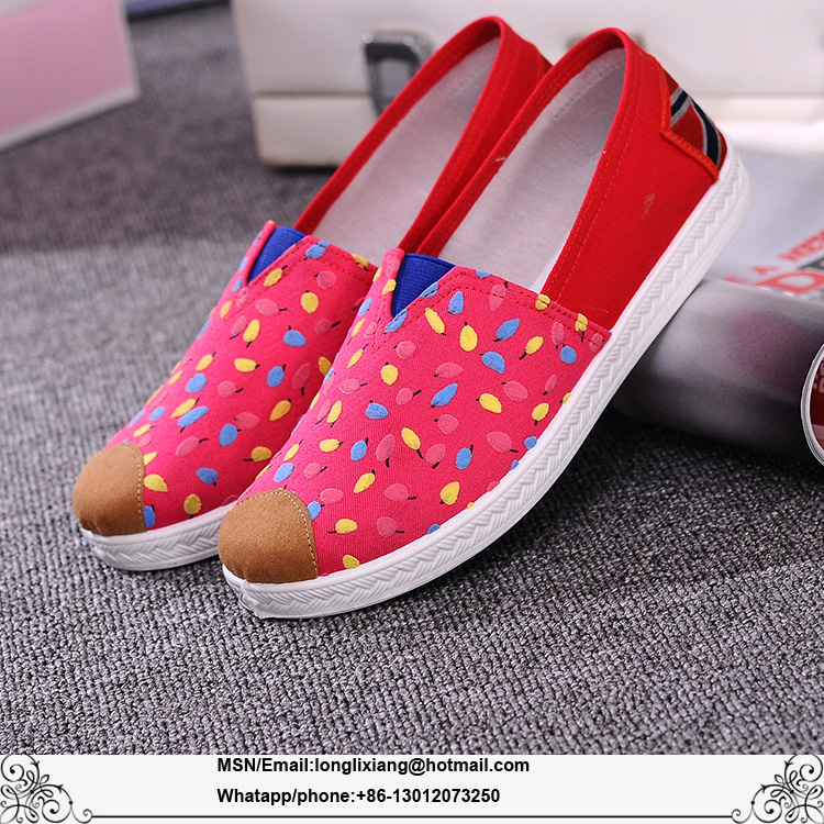 Happy Mary printed china breathable casual wholesale womens canvas shoes