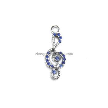 custom necklace pendant silver musical note pendant charm for men and women e57e235366
