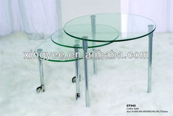 Modern Living Room Rotating Coffee Table Furniture Chromed Steel