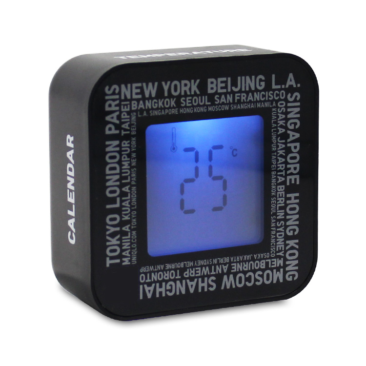Oem Unique Gift Alarm ScreenDisplay Battery Operated Calendar Clock