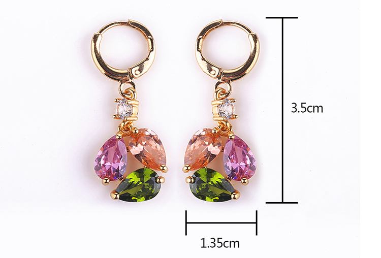 Latest Design Simulated Synthetic Diamond Earring Wiht Three Cubic Zirconia Gems