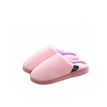 Winter indoor multi-color Coral cashmere cotton slippers ladies hotel slippers for women