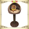 Tree style newest rattan pet house cat kennel dog kennel