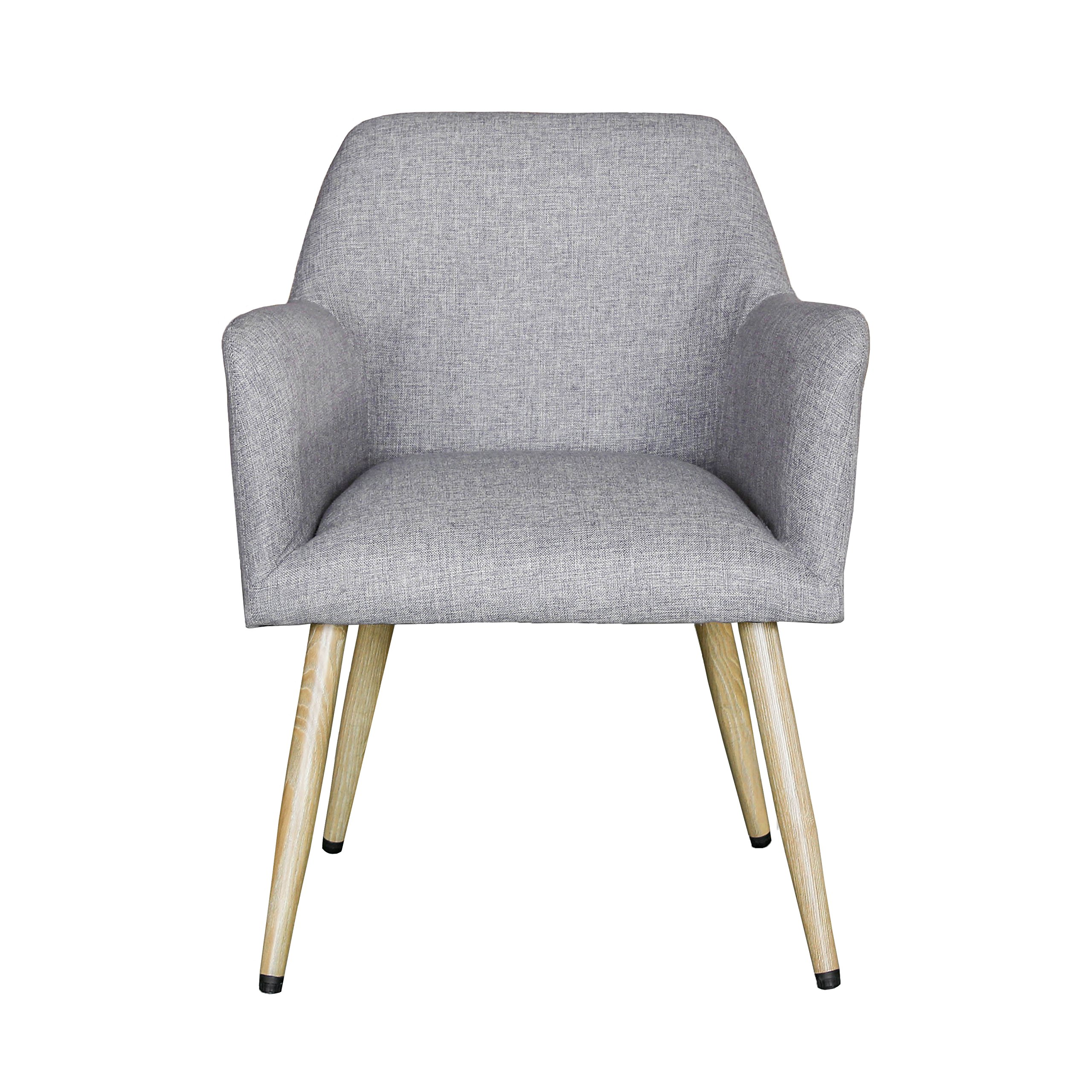 Mid Century Modern Indoor Muted Fabric Arm Chair, Accent Chair With High  Thin Legs (