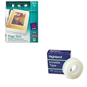 KITAVE74203MMM6200341296 - Value Kit - Avery Top-Load Poly 3-Hole Punched Sheet Protectors (AVE74203) and Highland Invisible Permanent Mending Tape (MMM6200341296)