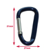 Modern style professional carabiner keychain flat square aluminum mini carabiner clip