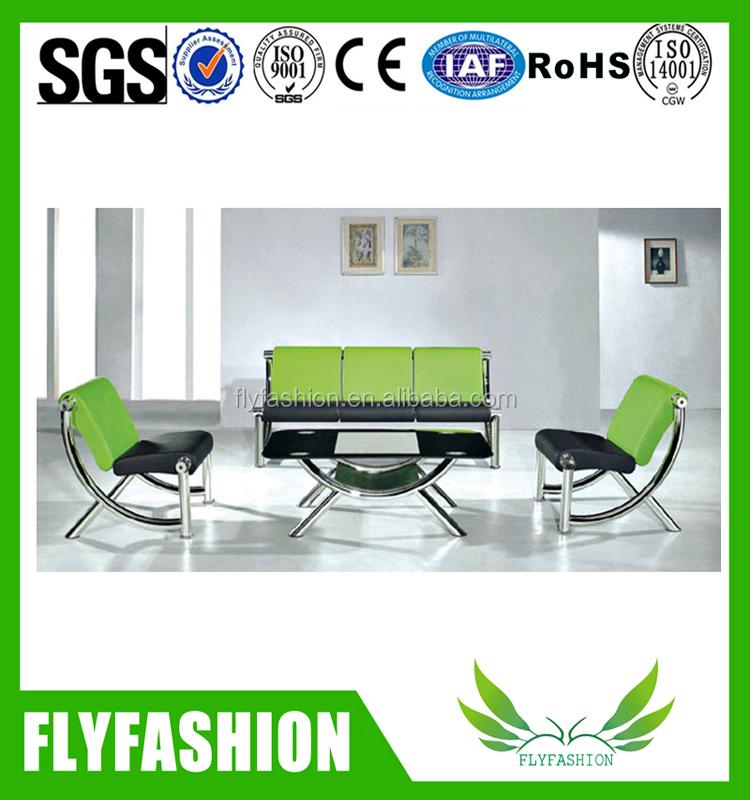 Green Leather Executive Office Sofa