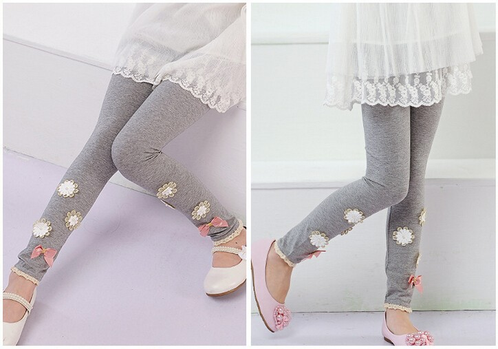 2015 Children Clothing Baby Girl Leggings Children Plain Color ...