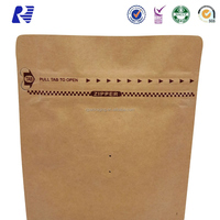 2017 new kraft paper vacuum sealed coffee bags with valve