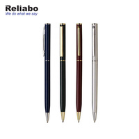 Reliabo Wholesale Products Custom Promotional Advertising Slogan Slim Metal Pens