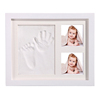Wholesale wooden baby photo frame handprint frame kit for home decor