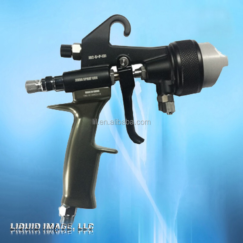 hvlp dual head nozzle spray gun for chrome spray kit on plastic