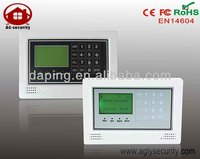 Wireless Burglar Alarm Equipment Using For Home with 10 Wireless & 4 Wired Zones GSM With Touch Key