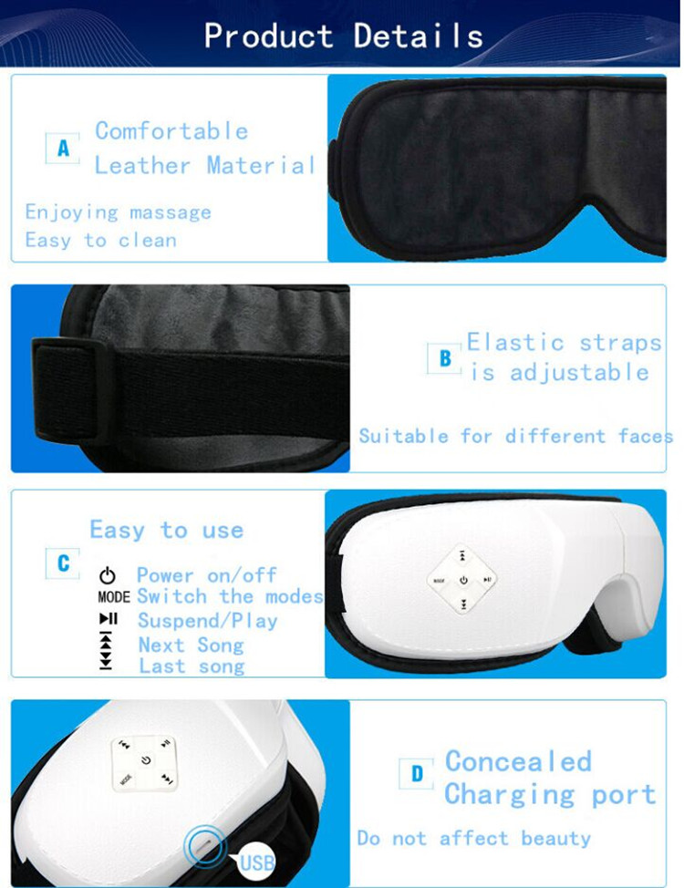 New multi-functional eye massage device eye protection eye massage device