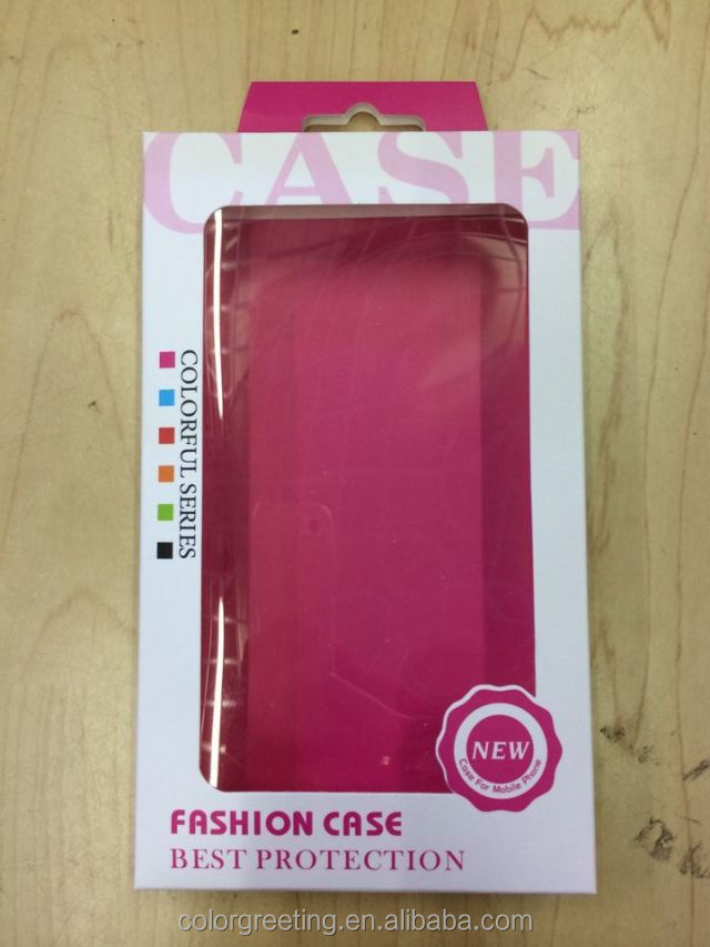 high quality paper packing box for iphone 7/8case with pvc window
