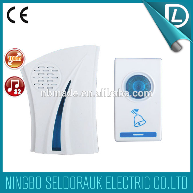 OEM/ODM acceptable cheap price factory offer doorbell/chime 8 countries languages 32 musical tunes