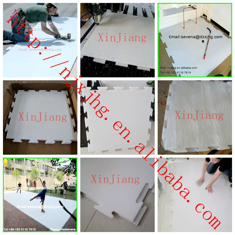 UHMW-PE synthetic Artificial ice for skating/hockey rink panel/board/sheet