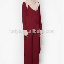 New arrival abaya long maxi dress muslim women islamic clothing 2 pcs suit