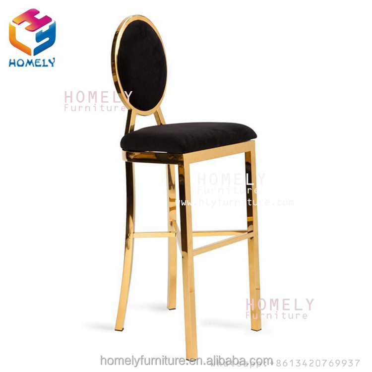 Modern new design barstool party wedding bar rose gold silver white wholesale stainless steel chair bar