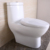 ET237 Gloss white siphonic one piece toilet