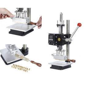 Portable hot foil gold stamping machine with stock symbol number and letter mold set