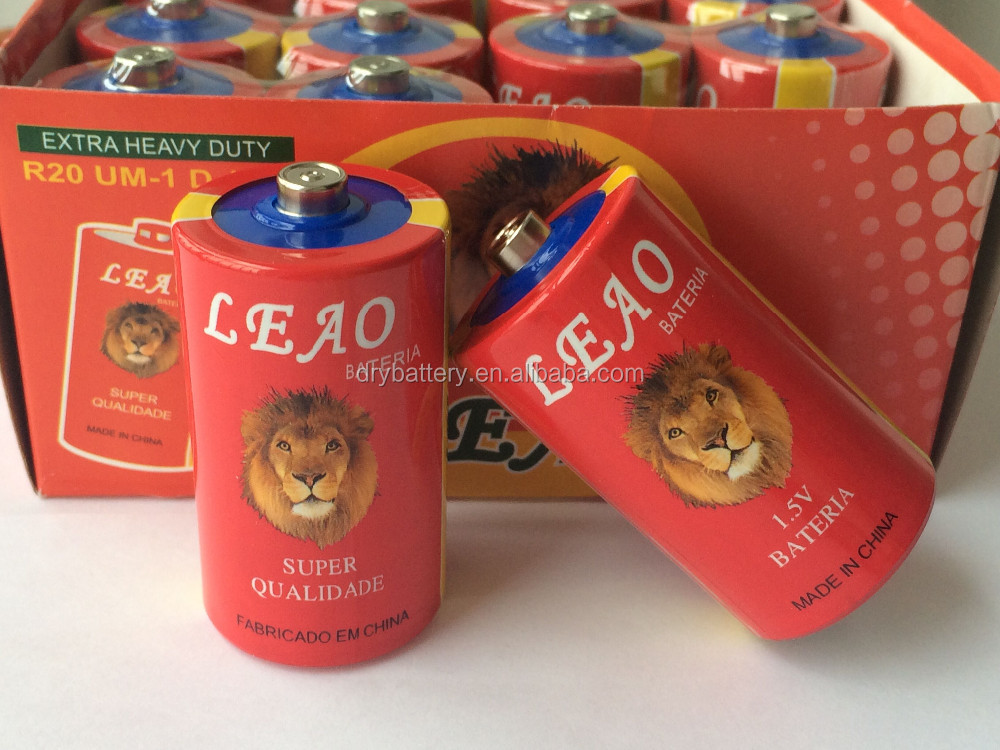 China R20 Size D Battery Factory