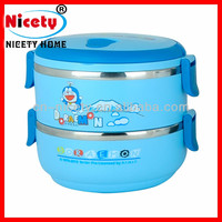 pp+stainless steel metal Japanese lunch box / food warmer