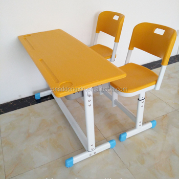 Colorful primary school furniture school desk with adjustable height