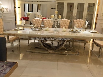 Dh 1401 Modern Best Price Italian Marble Dining Table From China Online Furniture