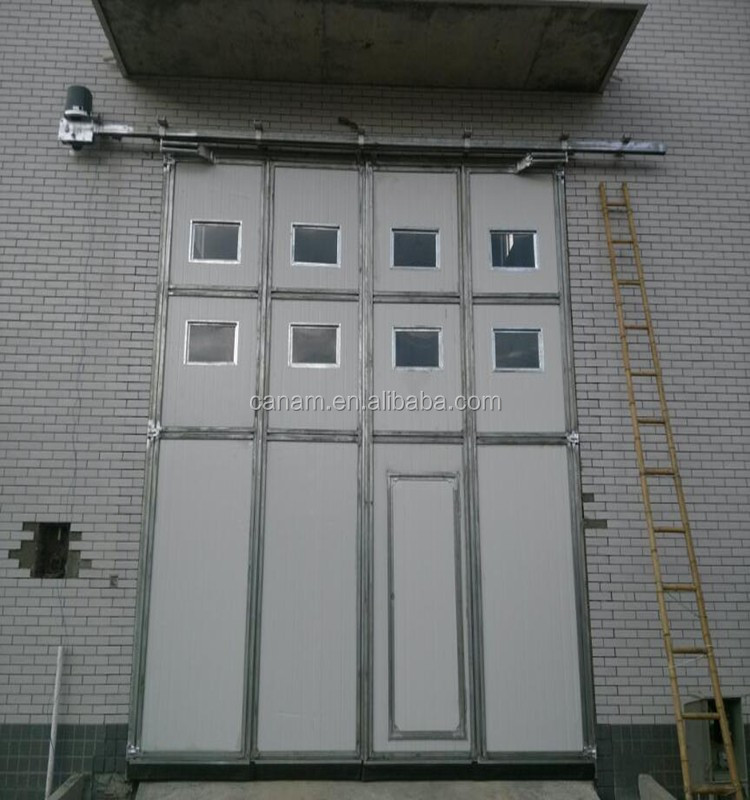 Industrial high speed insulated folding door for sale