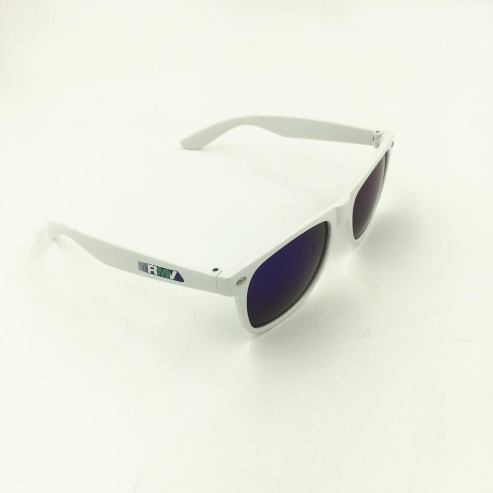 1c33cfef931 Cheap Promotional Custom White Sunglasses Client Pantone Color Match ...