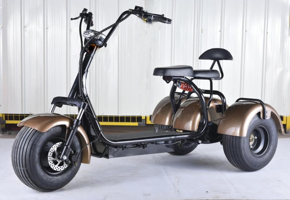 2018 Top Seller 1500w 2000w 3 Wheel Electric Scooter With