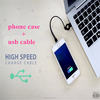 new product universal blank led light cell phone case with usb cable