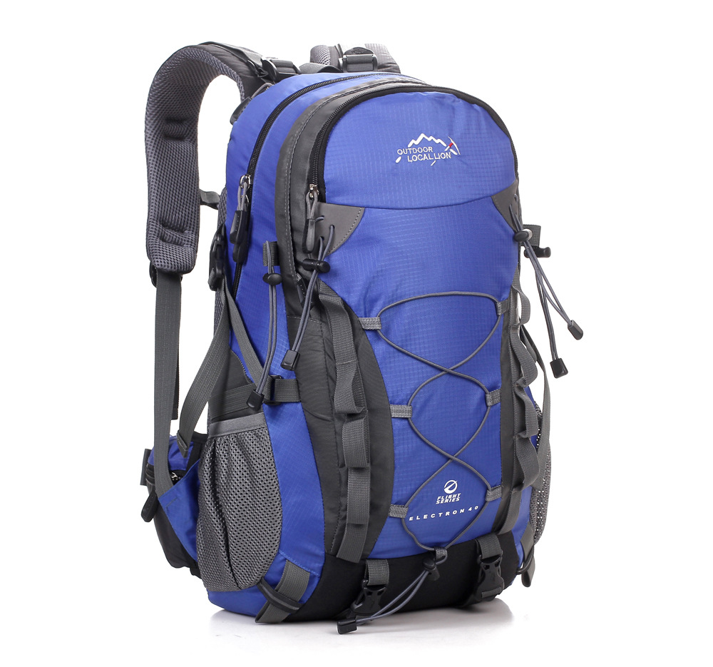 """Hotsale durable waterproof nylon stylish outdoor hiking custom backpack, mountaineering backpack with 15.6"""" laptop compartment"""