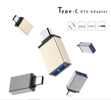 Factory Metal Shell USB3.1 Type-c /USB-C male to USB3.0 Female usb Type C connector OTG Adapter