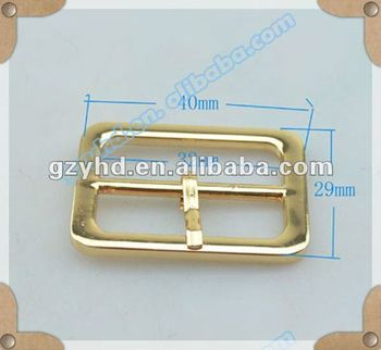 fashion custom alloy flat belt buckle for bag fitting