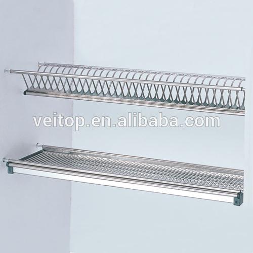 Plato de acero inoxidable escurridor para cocina soportes for Soporte platos cocina