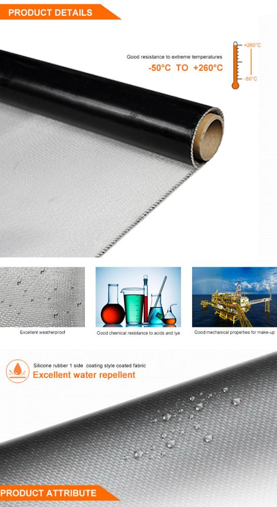 550C Red Silicone Coated Fiberglass Fabric Flame And Chemical Resistant Fireproof Heat Insulation