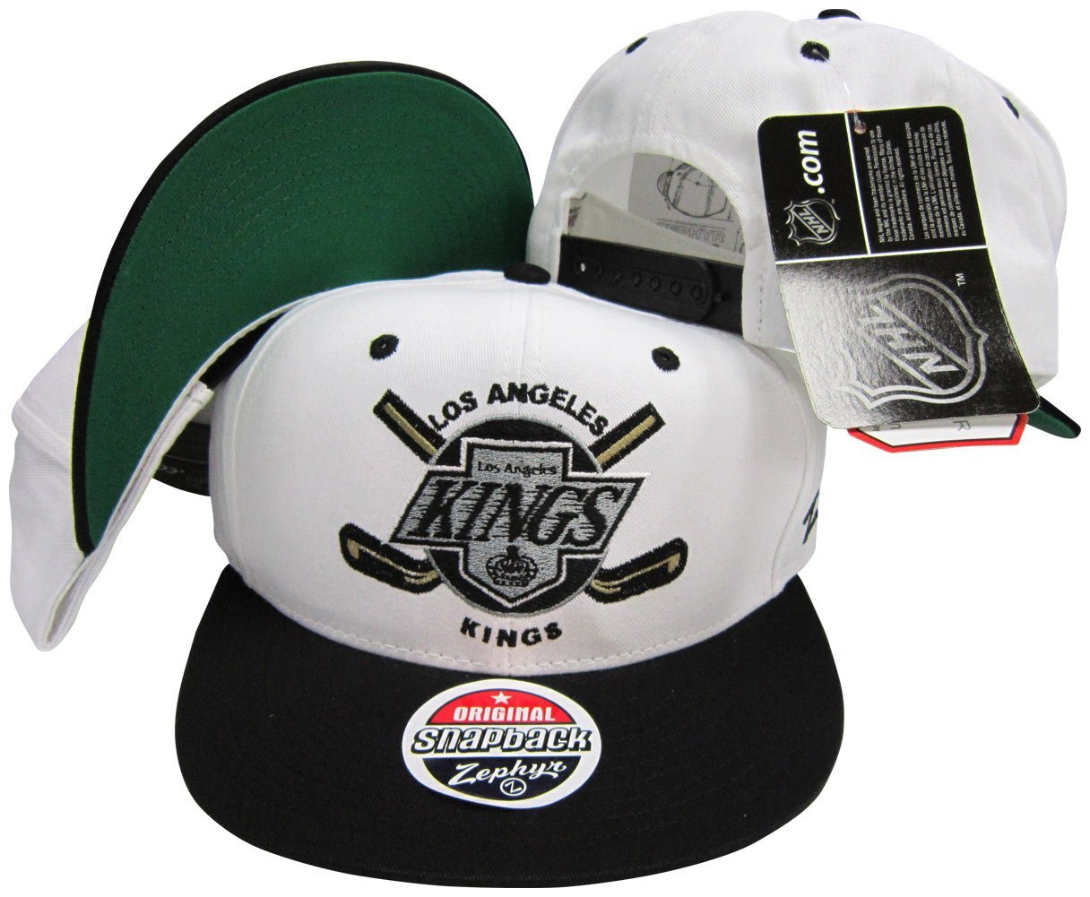 Los Angeles Kings White   Black Two Tone Plastic Snapback Adjustable  Plastic Snap Back Hat   Cap c8909984c