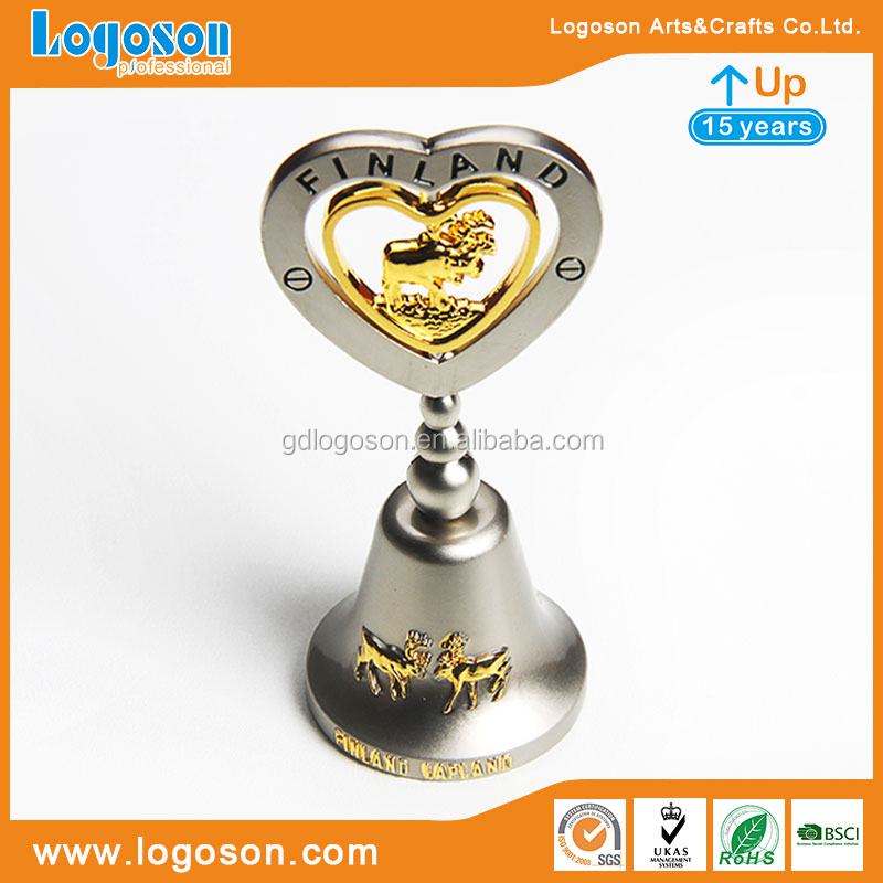 Souvenirs Finland Tourist Factory Direct Custom Large Decorative Bells and Small Metal Craft Bells